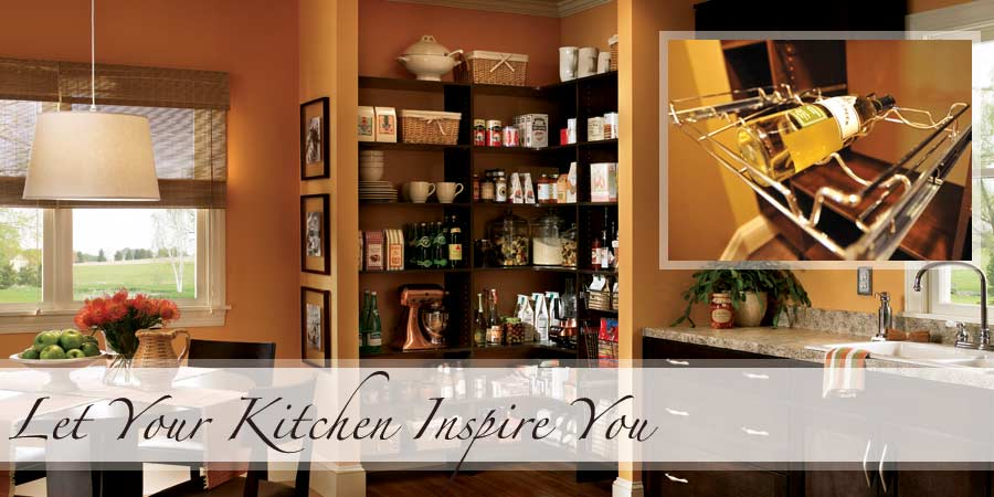 Kitchen Pantry with Wine Storage