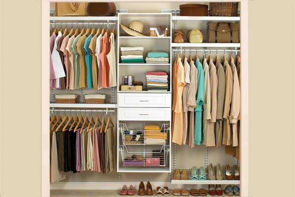 how to build a closet shelving system