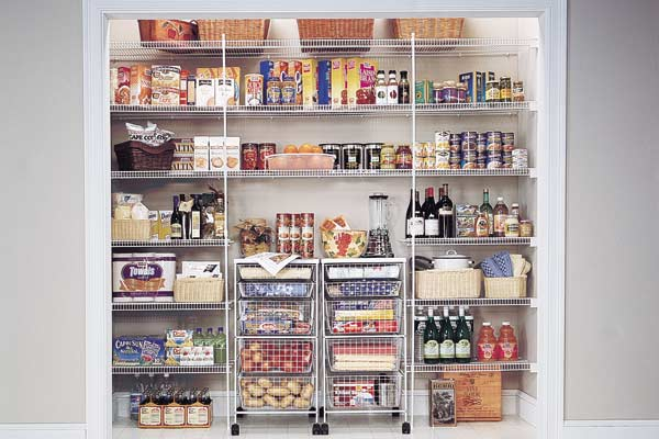 Pantry storage shelves best storage design 2017 for Best pantry shelving system